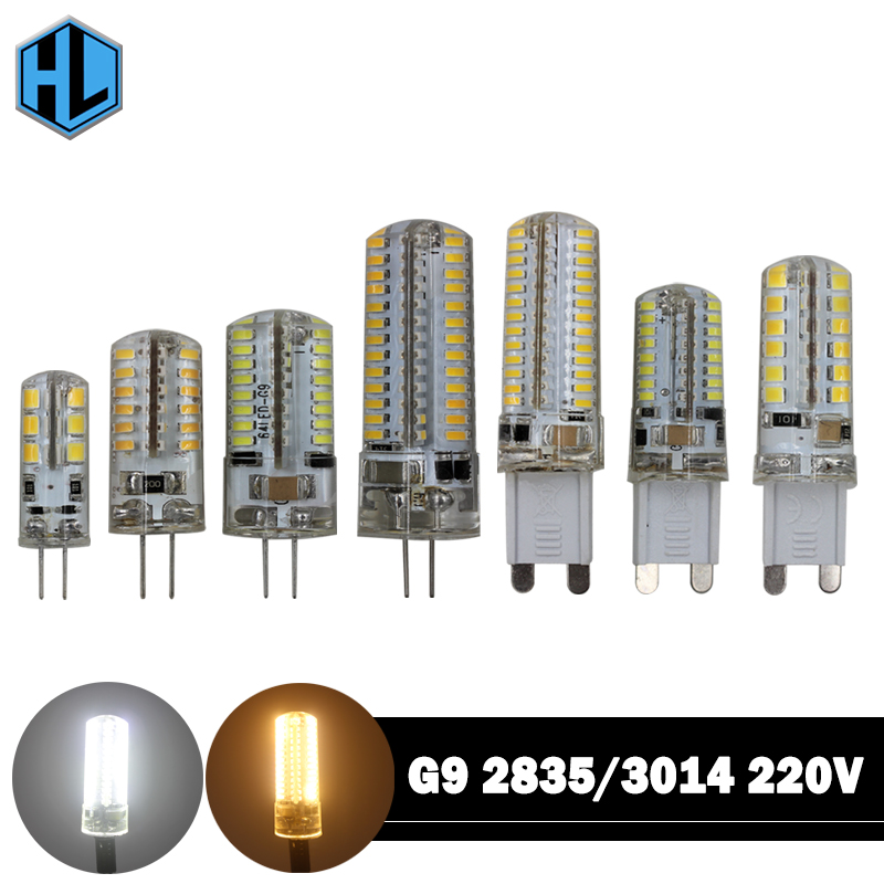G9 G4 LED Corn Bulb SMD 2835 3014 LED Lamp AC220V DC12V 3W 7W 9W 10W 12W LED Light Corn Light Bulb Replace Halogen Lamp