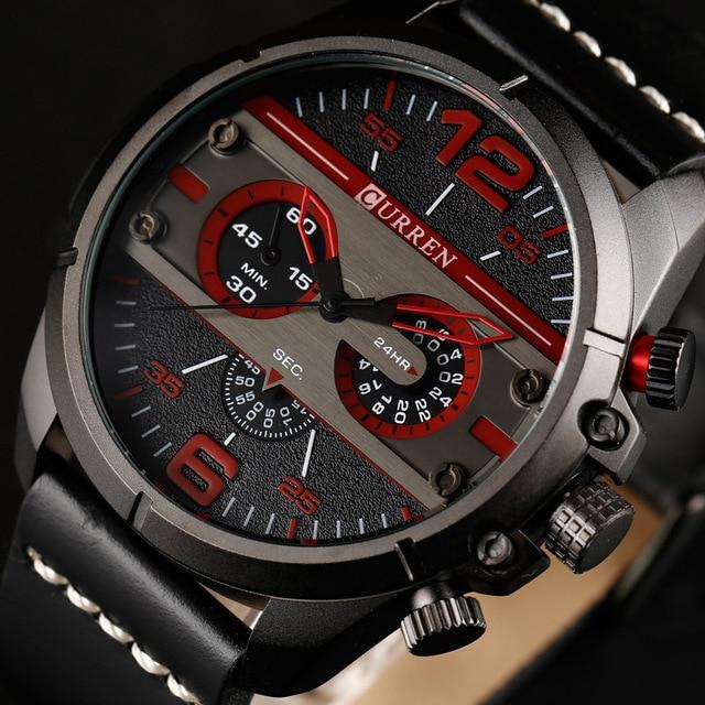 2018 New Men Watches CURREN Top Brand Luxury Mens Waterproof Sports Military Wrist Watch Male Fashion Casual Quartz Clock Gift