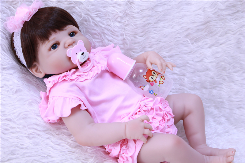 juguetes Doll Reborn 55cm girl Body Silicone Reborn Dolls Toys 23inch Baby Doll real alive Lifelike Shower Doll Toy menina BJDjuguetes Doll Reborn 55cm girl Body Silicone Reborn Dolls Toys 23inch Baby Doll real alive Lifelike Shower Doll Toy menina BJD