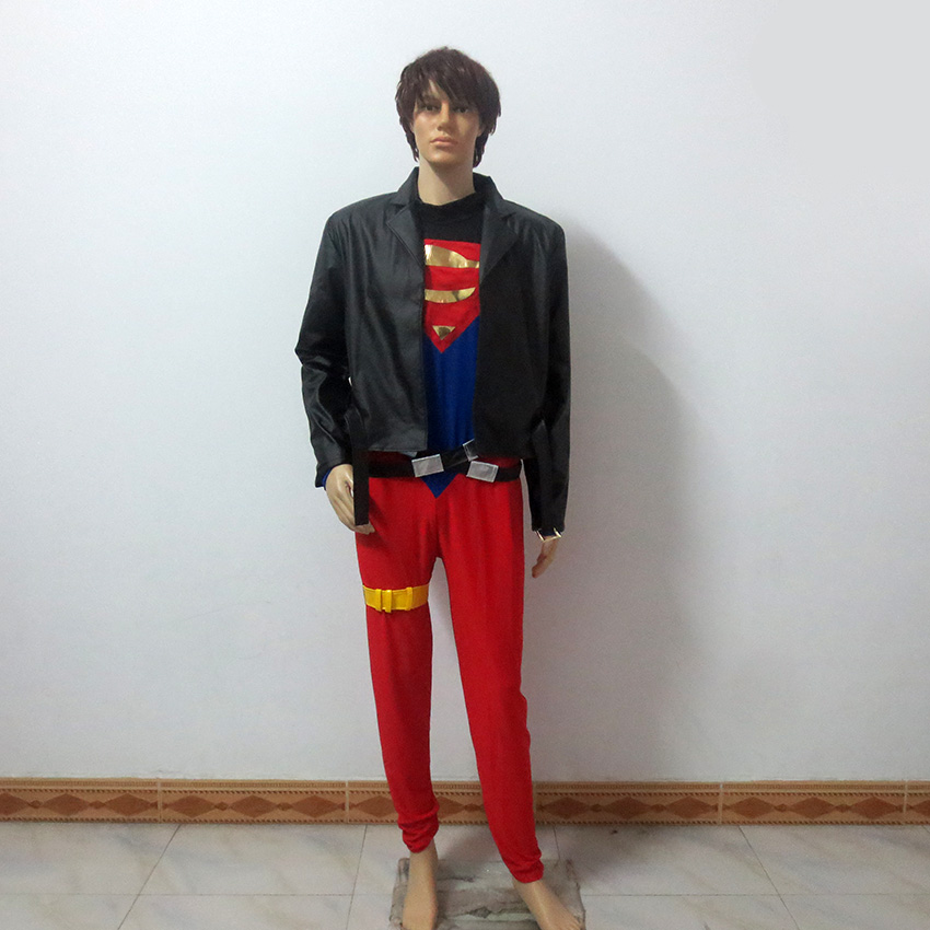 Young Justice Teen Titans Superhero Superman Conner Kent Superboy Halloween Uniform Outfit Cosplay Costume Customize Any Size