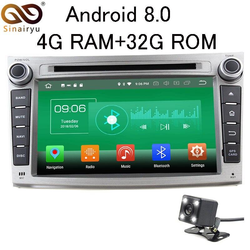 Sinairyu 4 г Оперативная память Android 8.0 автомобильный DVD для Subaru Outback Legacy 2009 2010 2011 2012 Octa core 32 г встроенная память Радио GPS плеер головное устройство