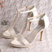 Wedopus Особый Стиль Платформа Свадебные Сандалии Женская Обувь На Высоких Каблуках Челнока