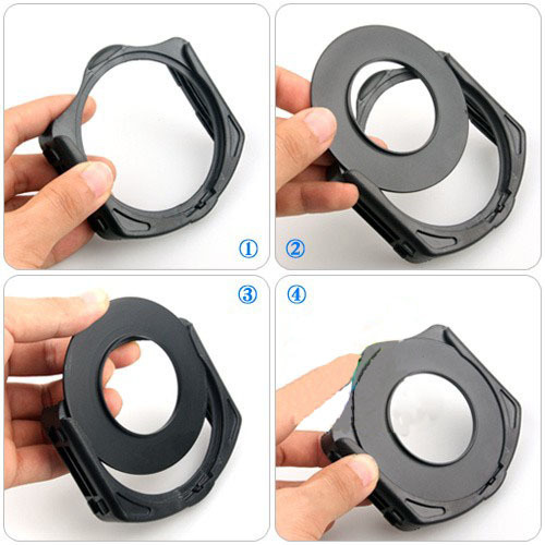 21in1 Set 11 pcs Square Gradual ND Color filter kit+9 metal Rings+ filter holder For Cokin P Series Camera 7