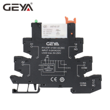 цена на Free Shipping GEYA 6.2mm thickness Din Rail Slim Relay Module 6A 1NO1NC  12V Relay 24V 220V