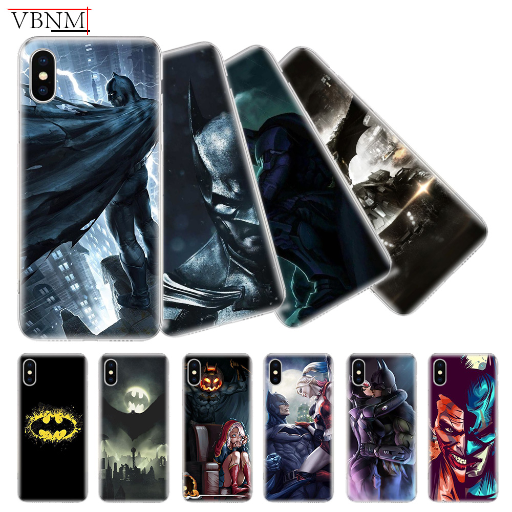 Batman DC Patterned Soft Phone Back Case For iPhone 6 6S 7 8 Plus X 10 XS MAX XR 5 5S SE Gift Customized Apple Cover Coque Capa