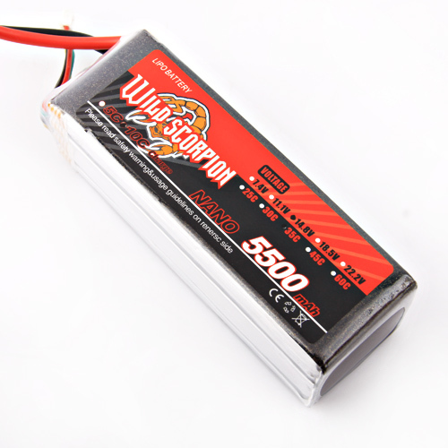 1pcs Wild scorpion RC 14.8V 5500mAh 35C Li-polymer Lipo Battery Helicopter For RC Quadcopter Drone Helicopter Car Airplane wild scorpion rc 18 5v 5500mah 35c li polymer lipo battery helicopter free shipping