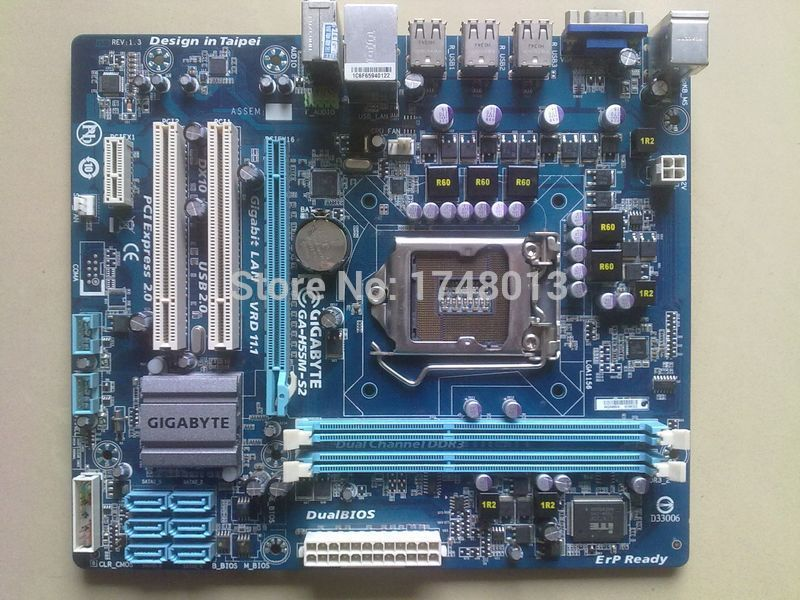 где купить  original motherboard for Gigabyte GA-H55M-S2  DDR3 LGA 1156 H55M-S2 for I3 I5 I7 8G H55 Desktop motherboard Free shipping  дешево