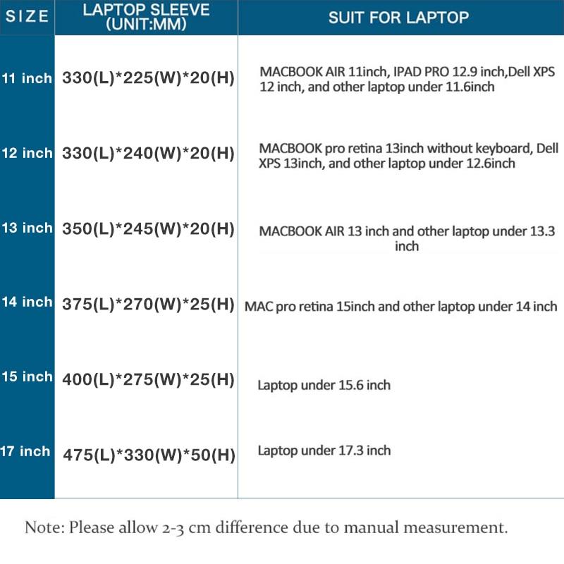 KALIDI Laptop Sleeve Väska Vattentät Notebook Väska För Macbook - Laptop-tillbehör - Foto 5