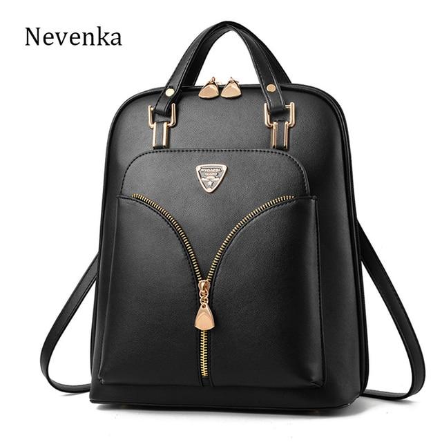 afb8670476c Nevanka Mini Backpack Women PU Leather Backpack Purse Travel Backpacks for  Women Girls Bookbag Satchels Black Backpacks 2018