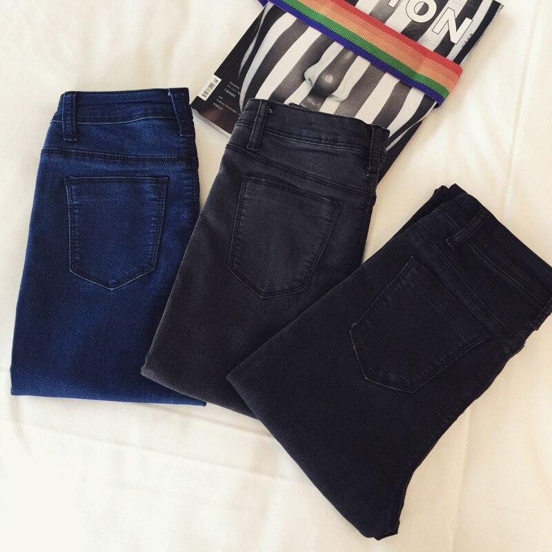skinny jeans woman 2016 slim jeans for women black low. Black Bedroom Furniture Sets. Home Design Ideas