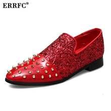 ERRFC Nouvelle Arrivée Hommes Or Casual Confort Chaussures De Mode De Luxe  Rivets Glitter Bling Charme Mocassins Chaussures Homm. 7e1c25d598f2
