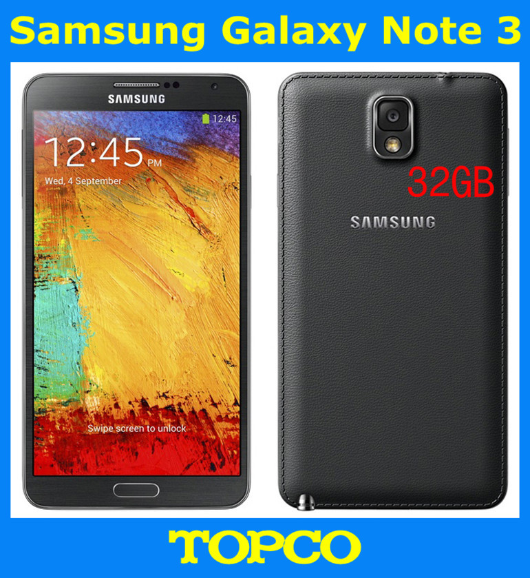 "Samsung Galaxy Note 3 N9005 Unlocked Original Andriod Mobile Phone Quad core 5.7"" 13MP WIFI GPS 3G&4G GSM SM-N9005 32GB ROM"