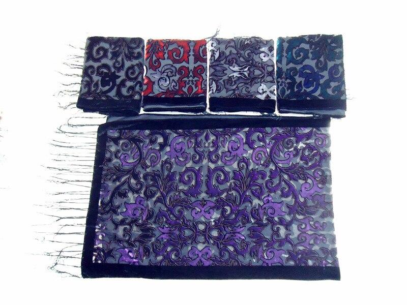 Image 4 - 2017 USA New Black Velvet Burnout Scarf Female Wedding Shawl  Baroque Muslim Hijab Style Wrap Pashmina Gift For Loversvelvet burnout  scarfscarf stylestyle scarf