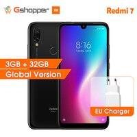 Global Version Xiaomi Redmi 7 3GB 32GB Mobile Phone 6.26 Android 9.0 Qualcomm 632 Octa Core 12MP Rear Camera 4000mAh Smartphone
