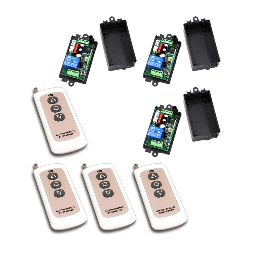 High Quality AC 220V 110V 1 CH 1CH RF Wireless Remote Control Switch System Toggle Momentary Latched 315mhz or 433mhz New new rf wireless switch wireless remote control system 2transmitter 12receiver 1ch toggle momentary latched learning code 315 433
