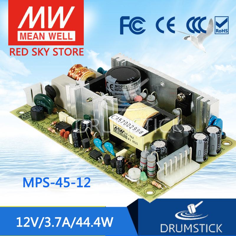 цена на Selling Hot MEAN WELL MPS-45-12 12V 3.7A meanwell MPS-45 12V 44.4W Single Output Medical Type