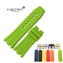 CARLYWET 28mm Wholesale Waterproof Silicone Rubber Replacement Wrist Watchband Strap Belt With Buckle For ROYAL OAK OFFSHORE