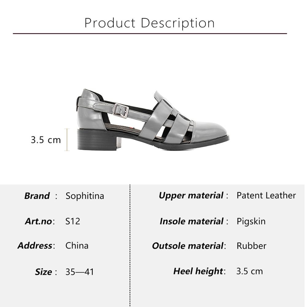 Sandalias Calidad Zapatos Gris Negro S12 Sophitina Casuales Patente Hebilla De Grueso Suave Hueco Alta blue Tacón Cuero gray Correa Black Azul Mujer fIdOaO
