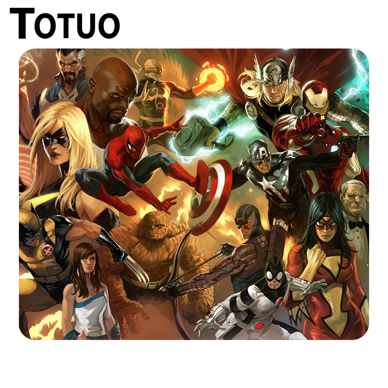 New Design superhero marvel multi dual DIY Printing Pattern Optical Computer Mouse Mat Gaming Anti-slip Anime Mouse Pad