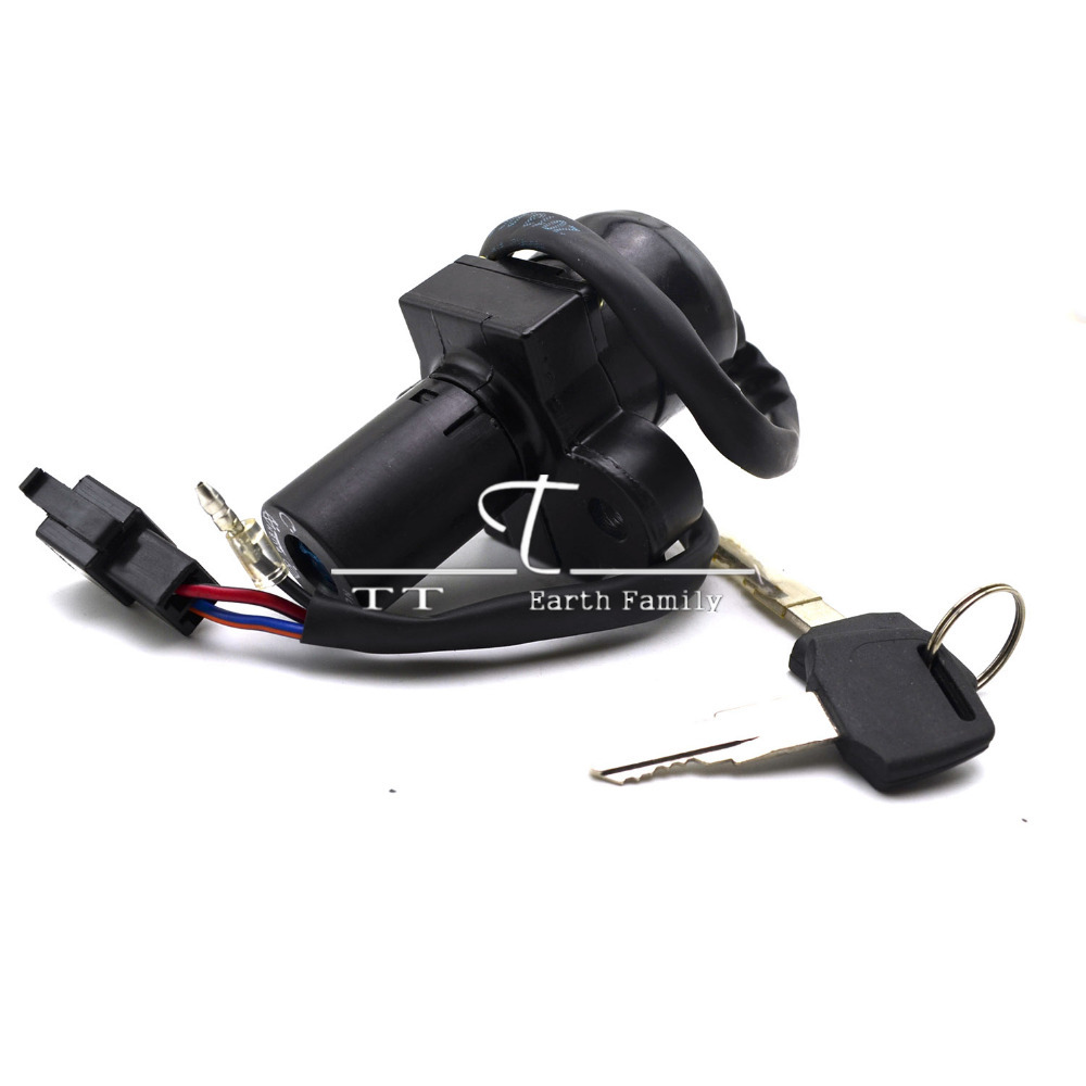 Motorcycle Ignition Switch Lock + 2pcs Keys For Honda Hornet 250 1996-2000, Not Includ Fuel Gas Tank Cap Cover Seat Handle Locks