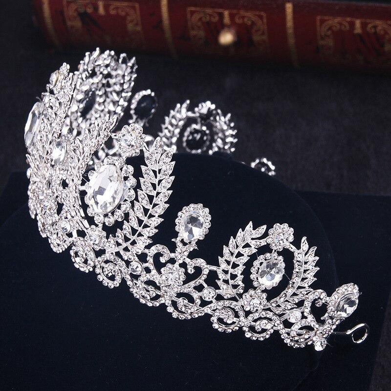 Mytl casamento coroa rainha bandana strass grande