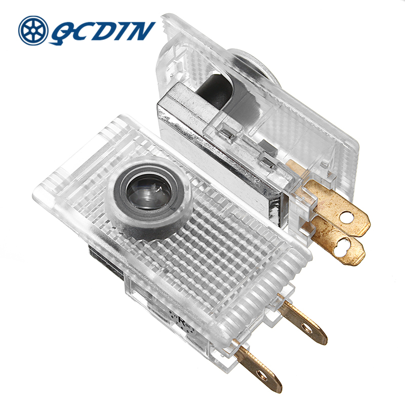 QCDIN For HOLDEN Pair LED Car Logo Door Projector Light Welcome Ghost Shadow Light For HOLDEN HSV Commodeore Captiva