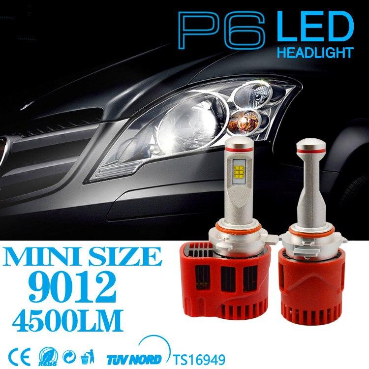 Waterproof 2pcs 45W 9000LM 9012 LED Headlight Canbus Free Error ZES LED Bulb Conversation Kit 3000K 4000K 5000K 6000K Fog Light