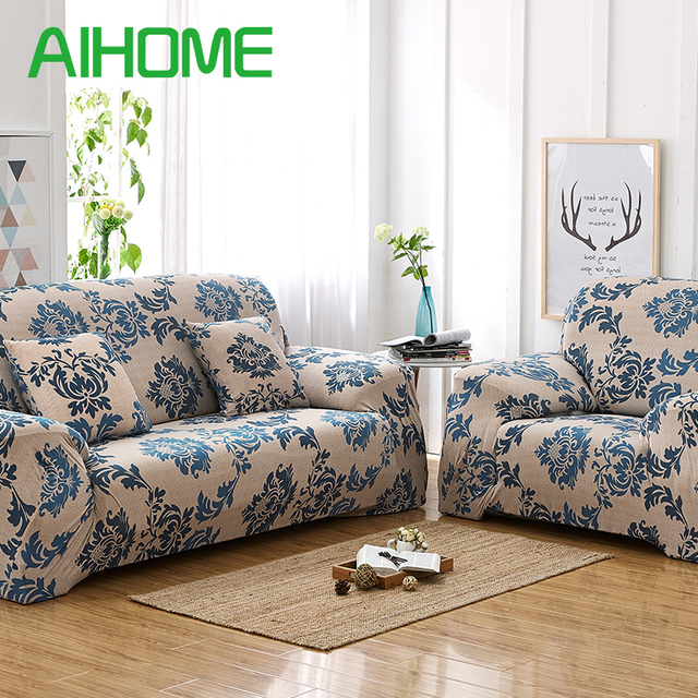 Beau Antiskid Spandex Stretch Big Elastic Whole With Simple Print Pattern Western  Style Plaid Sofa Slipcovers Furniture