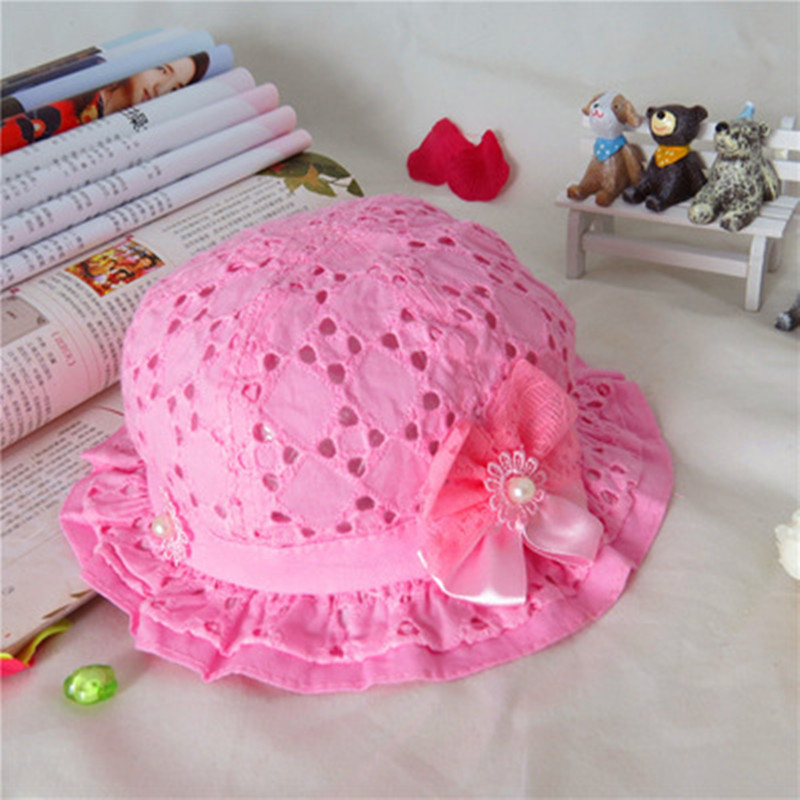 c6557f97a36 Hot Girls Baby Lace Node Brim Summer Beach Sun Straw Hat Cap Princess basin  caps Children Sun caps-in Hats   Caps from Mother   Kids on Aliexpress.com  ...