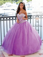 2016 Purple Sweet 16 Dresses Special Quinceanera Dresses Ball Gowns Sequines Tulle Girl Formal Prom Party Quinceanera Custom