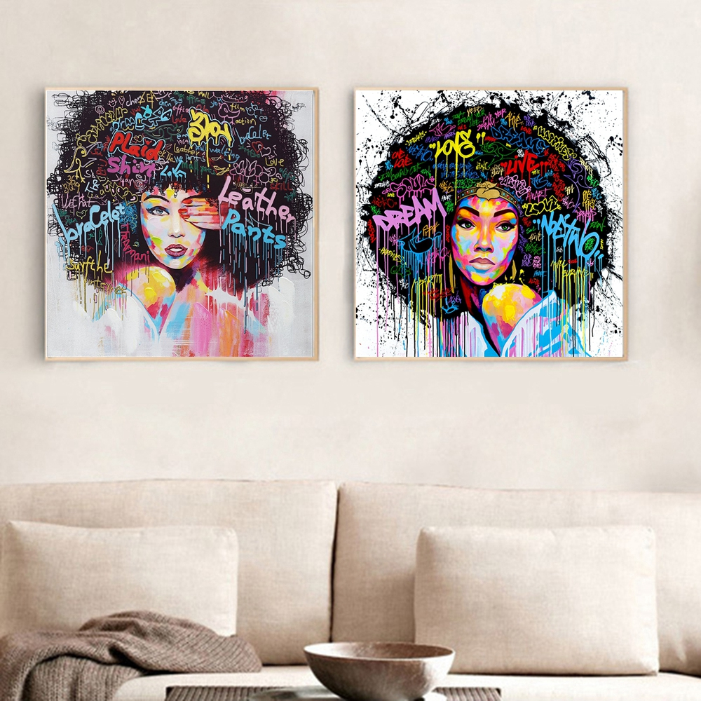 African Girl Printed Canvas Wall Painting 40