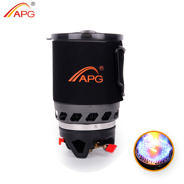 APG 1100ml camping gas stove fires cooking System and portable gas burners