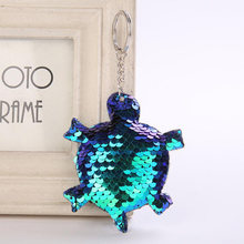 Cute Turtle Shiny Keychain Sequins Key Chain Keychains for Women Cars Bag  Accessories Pendant Key Ring 9787952f4e