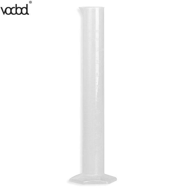 1pcs 100ml Plastic Measuring Cylinder Graduated Cylinders For Lab Supplies Chemistry Laboratory Tools School Lab Supllies HOT