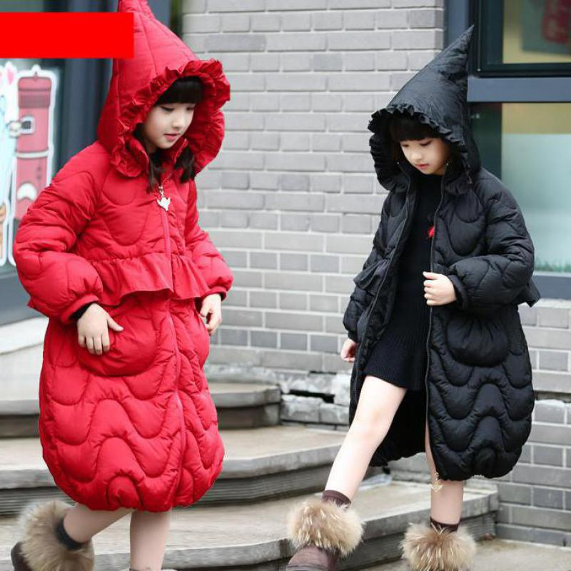 New 2018 Fashion Children Winter Jacket Girls Winter Coat Kids Warm Hooded Long Down Coats For Teenage Winterjas Meisjes Costume new 2018 fashion children winter jackets girls winter coat kids warm hooded long down coats for teenage girls casaco infantil 12