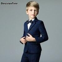 2019 new styles boy wedding suit coat+vest+shirt+bow tie+pants Boy Formal suits wedding suit for boys party ceremony Costume