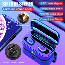 LED Display 3500mAh Power Wireless Bluetooth Earphone 5.0 Waterproof Earbuds 8D Stereo for All Smart Phone