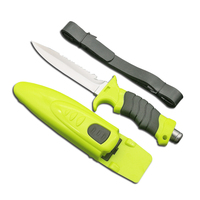 DuoC Deepsea Diving Fixed Blade Knife Survival Tactical 440 Steel Blade Rubber Handle Leggings Knife &ABS Sheath