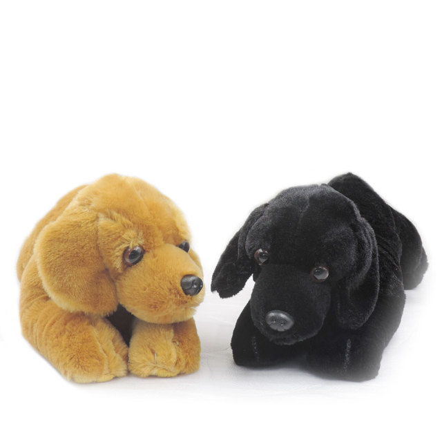Sales 30cm Cute Puppies Stuffed Animals Dogs Plush Toys Brown Black