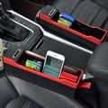 El organizador del asiento del coche del bolsillo lateral de la consola llena el espacio entre el asiento de mi bolsillo
