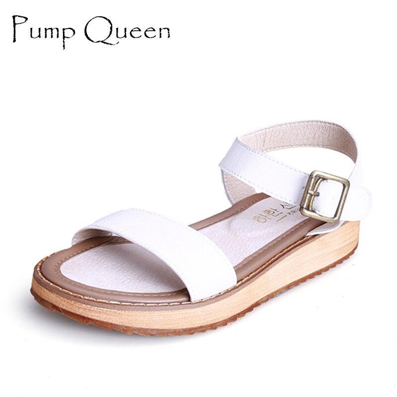 Sandals Women White Woman Sandalias Platform Women Sandals 2016 Summer Shoes Buckle Plus Size 43 42