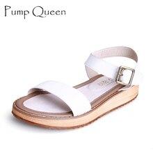 Sandals Women White Woman Sandalias Platform Women Sandals 2016 Summer Shoes Buckle Plus Size 43 42 Zapatos Mujer