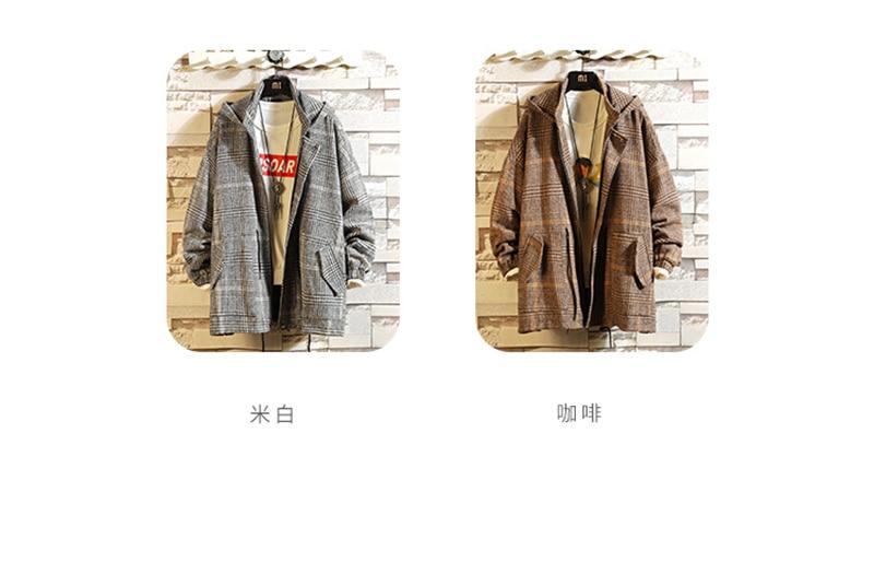 Male Long Coat Oversize Lapel Button Sobretodos Hombre Overcoat Streetwear (40)