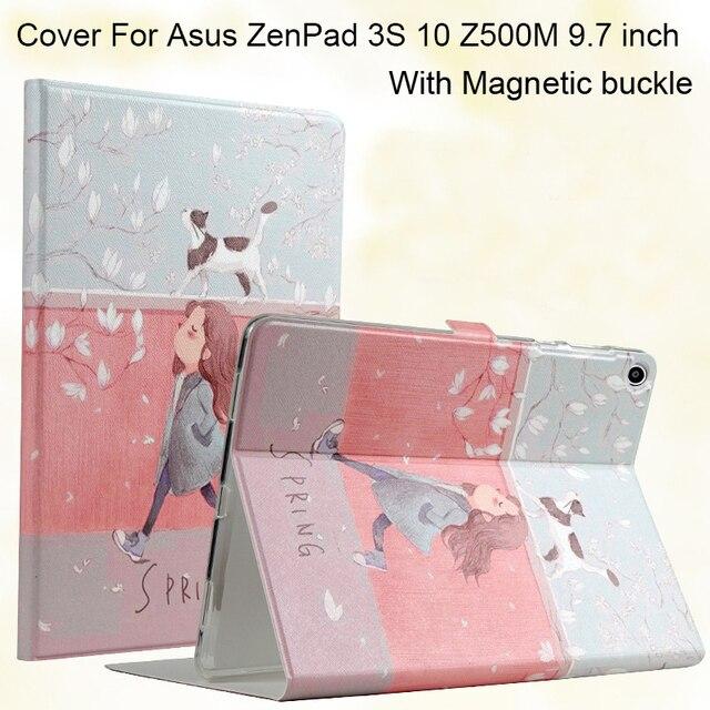 Искусственная Кожа Tablet Smart cover Для Asus ZenPad 3 S 10 Z500M 9.7 дюймов MediaPad 3 Раскладной Стенд Крышка сна/пробуждения case + Подарки