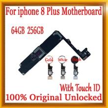 Разблокированная материнская плата для iphone 8 Plus с/без Touch ID, оригинальная для iphone 8 Plus материнская плата с чипами