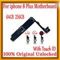 Разблокированная материнская плата для iphone 8 Plus с/без Touch ID  оригинальная для iphone 8 Plus материнская плата с чипами