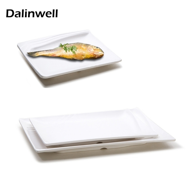 High-quality Western Restaurant White Square Plastic Melamine Fast Food Pasta Sushi Dinner Plate Chafing  sc 1 st  AliExpress.com & High quality Western Restaurant White Square Plastic Melamine Fast ...
