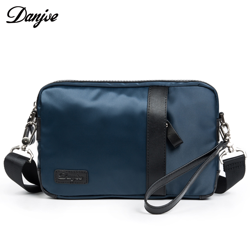 DANJUE Designer Daily Messenger bag Man Leather With Oxford Brand Zipper Crossbody Bag Large Small Shoulder Leisure Day ClutchesDANJUE Designer Daily Messenger bag Man Leather With Oxford Brand Zipper Crossbody Bag Large Small Shoulder Leisure Day Clutches