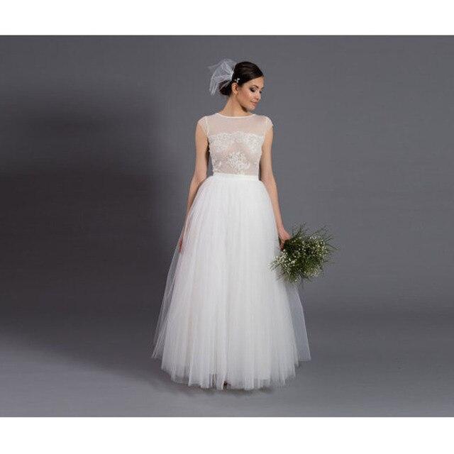 9760fe6b1a Crema blanco largo tulle falda por encargo piso de longitud Maxi falda  vintage puffy malla nupcial