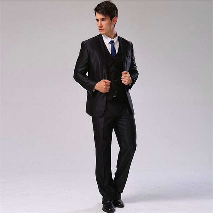 Куртка+ Брюки для девочек+ жилет+ галстук) мужской костюм Slim Fit Повседневное Свадебное Платье Блейзер формальный Бизнес костюм плюс Размеры Для мужчин смокинг cbj-f1318